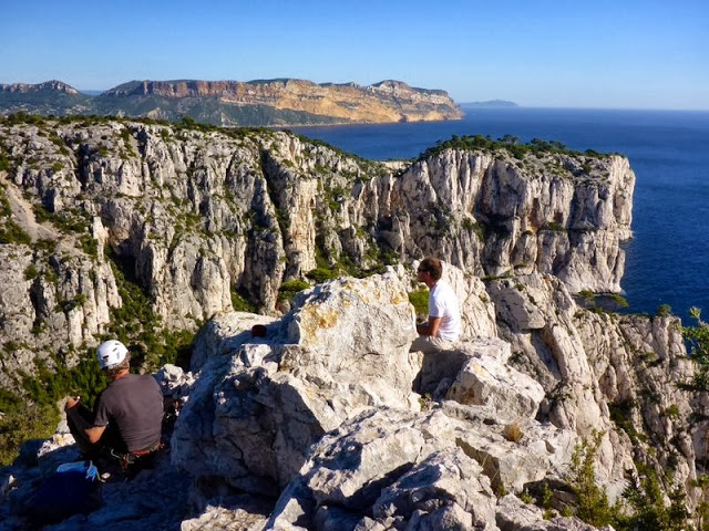 stage d'initiation escalade calanques