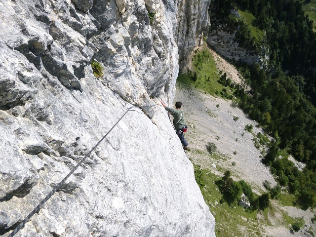 Grande voie terrain d'aventure en Chartreuse