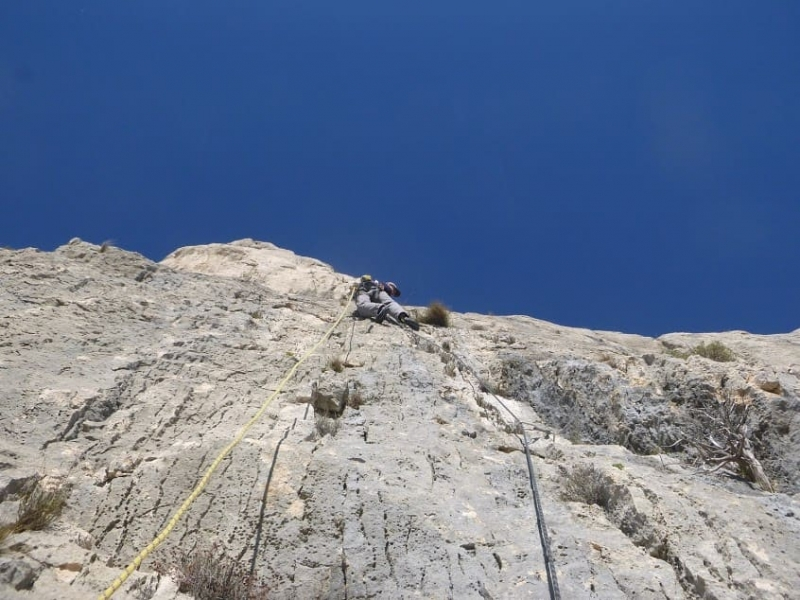grande voie d'escalade artificielle à la Sainte Victoire