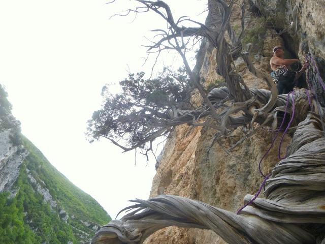 topo de grande voie terrain d'aventure dans le Verdon
