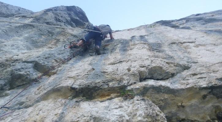 escalade terrain d'aventure la sure vercors