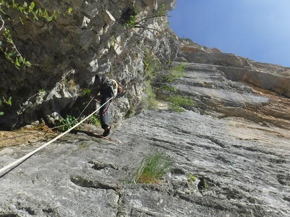 grande voie d'escalade aux gillardes dans le Dévoluy